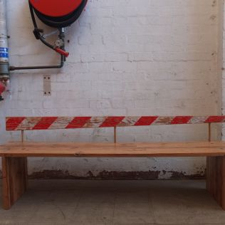 Barrier Bench, crafted from recycled timber