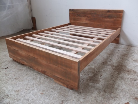 Recycled Oregon bed frame