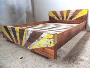 Industrial styled bed frame