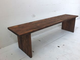 Recycled Oregon plank style bench seat- dark