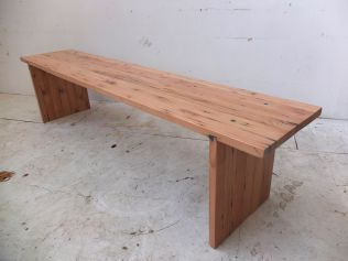 Recycled Oregon plank style bench seat