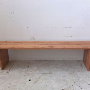 Reclaimed Oregon plank style bench seat