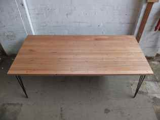 Recycled Tassie Oak with hairpin legs