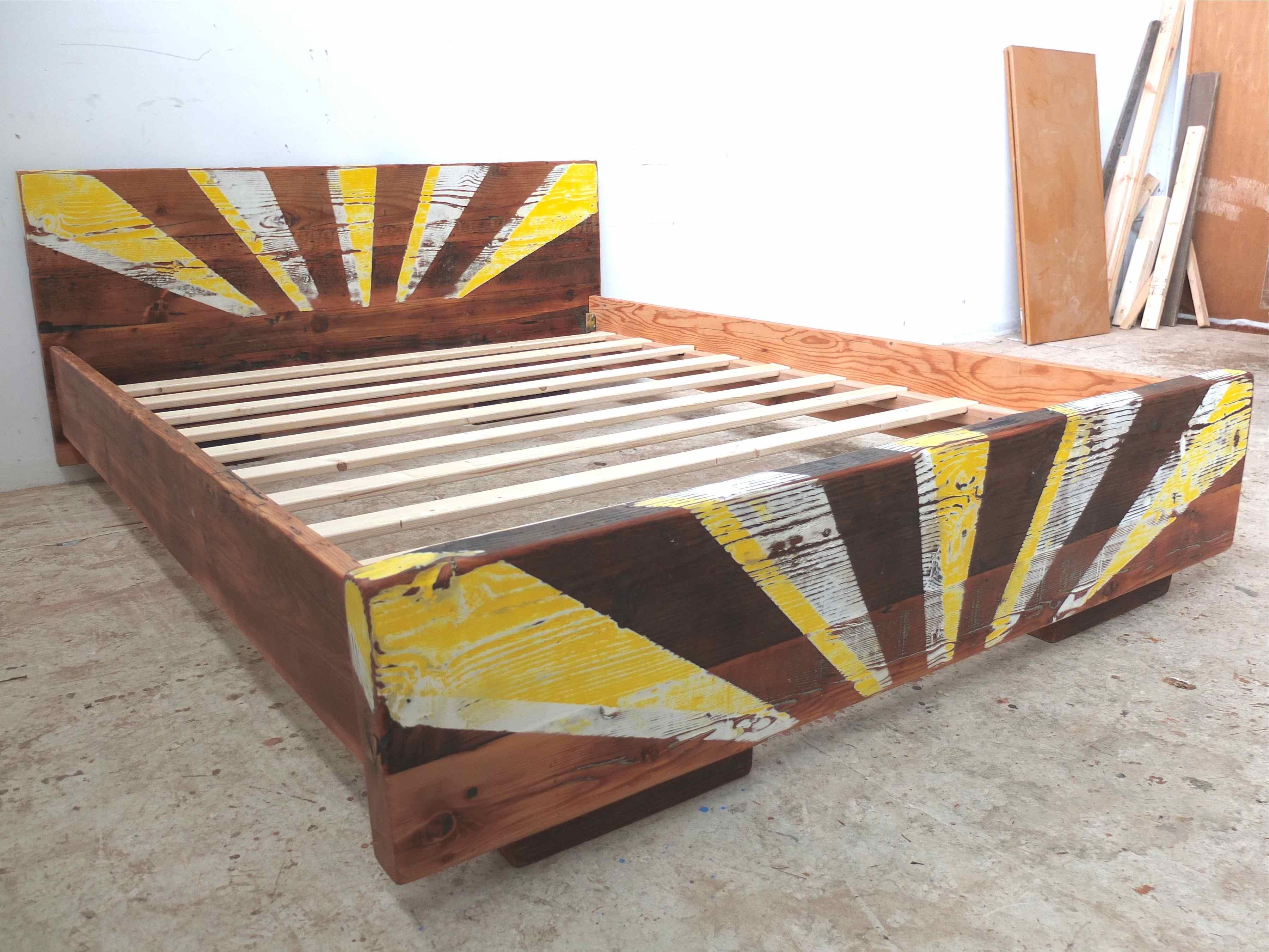 Reclaimed timber bed frames custom made tim t design for Custom made bed frame