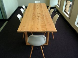 Modern recycled Oregon boardroom table