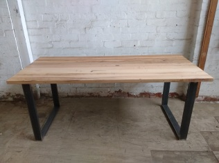Recycled hardwood table
